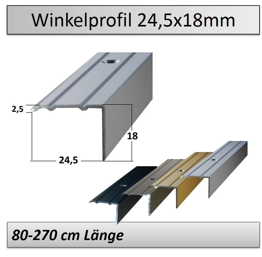 Treppenkantenprofil Fliesen: 24x18mm Treppenkantenprofil/ Kantenschutzprofile Selbstklebend