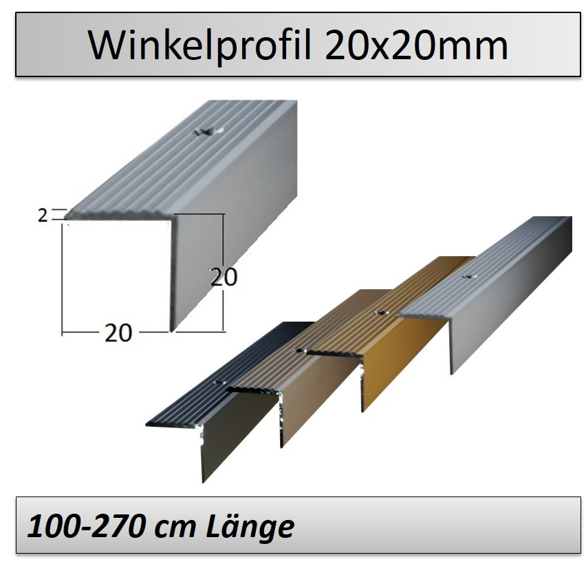 Treppenkantenprofil Fliesen: 20x20mm Treppenkantenprofil -direkt Vom Hersteller