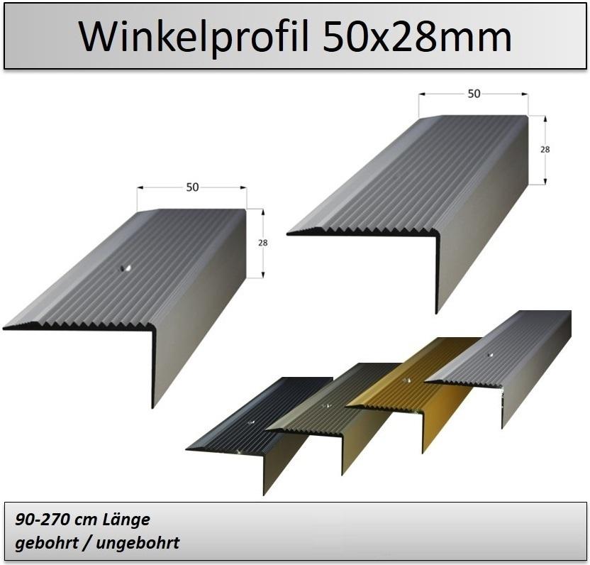Treppenkantenprofil Fliesen: 50x28 Mm Treppenkantenprofil /Treppenwinkelprofil