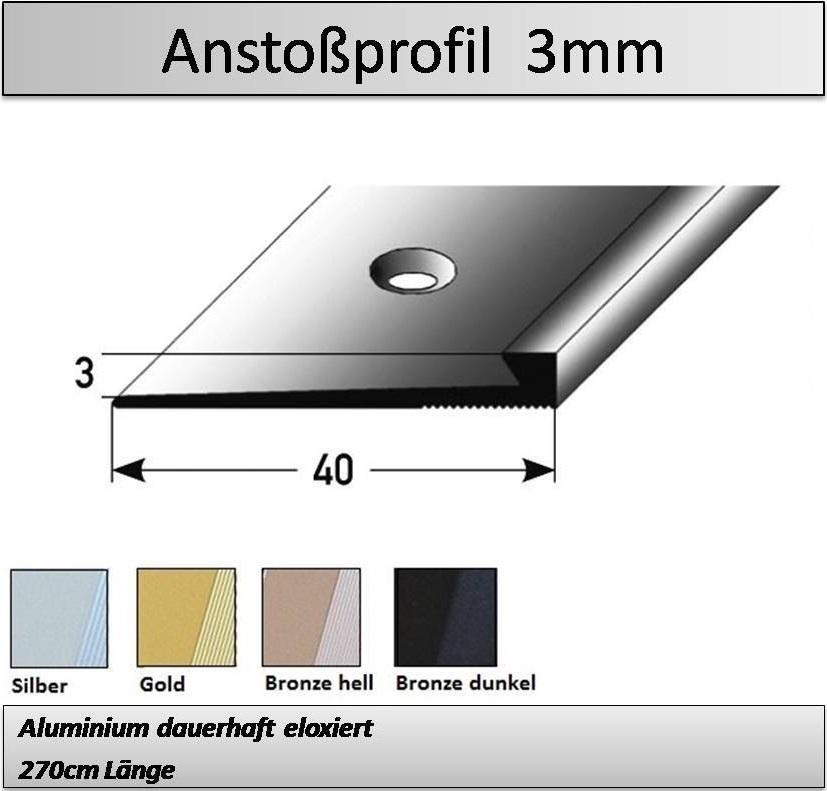 3mm Abschlussprofil Metallprofile Zu Herstellerpreisen