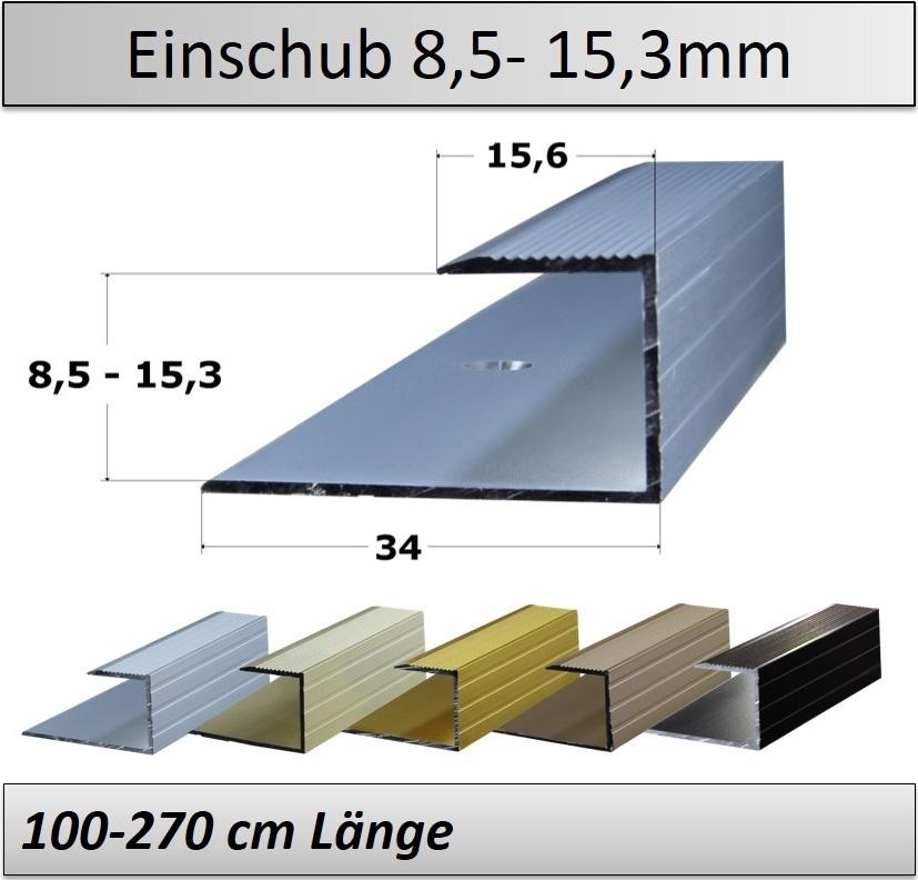 Treppenkantenprofil Fliesen: 8-15mm Abschlussprofile, Einschubprofile- TOP Preis/ Qualität
