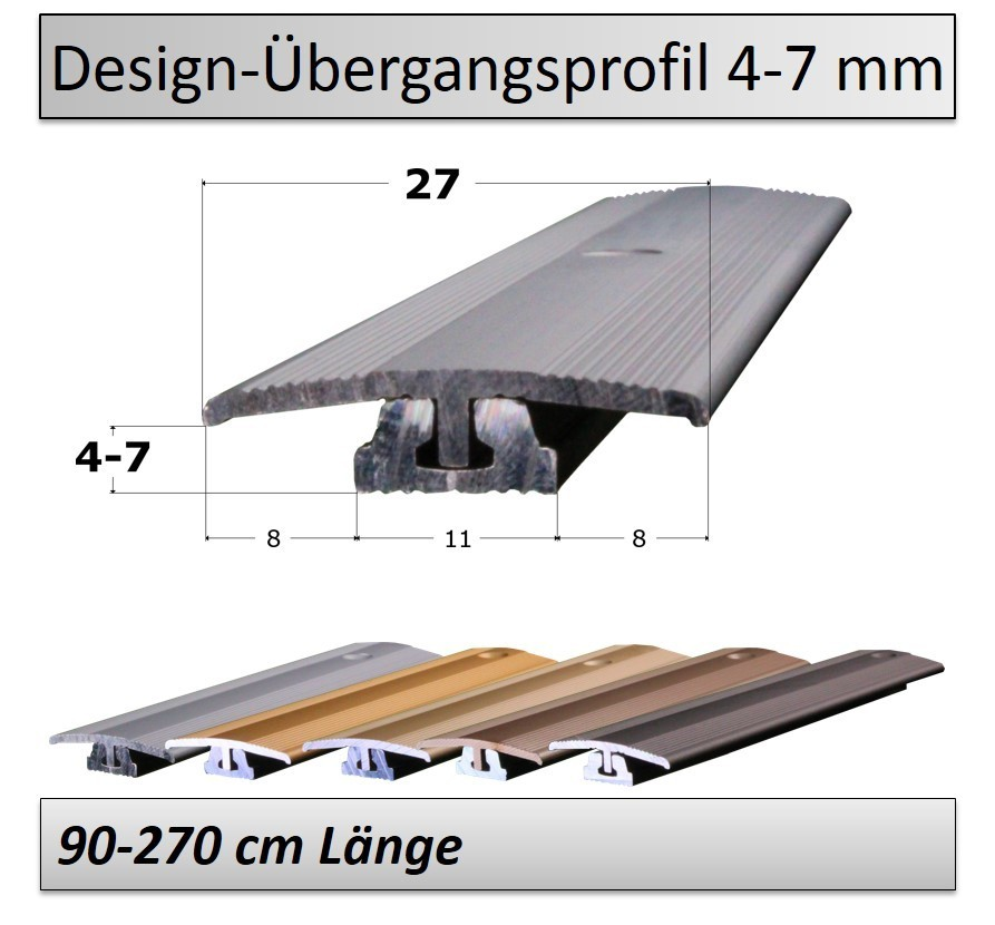 4 7mm bergangsprofil design vinyl top qualit t preis. Black Bedroom Furniture Sets. Home Design Ideas