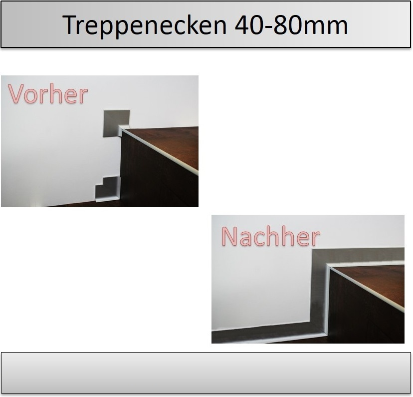 40 80mm treppen innenecken aussenecken sockelleisten top preis. Black Bedroom Furniture Sets. Home Design Ideas