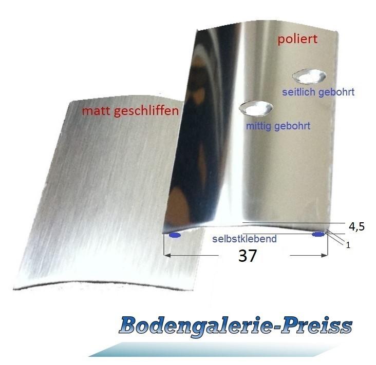 Favorit 37mm Edelstahl-Übergangsprofil (V2A) poliert /matt geschliffen GB03