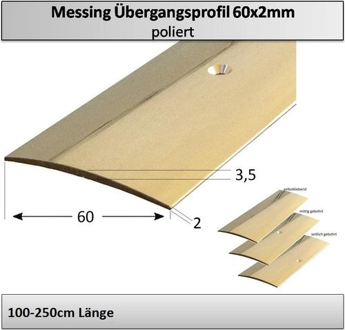 60mm Messing-Übergangsprofil