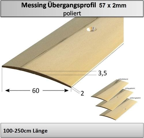 57mm Messing-Übergangsprofil