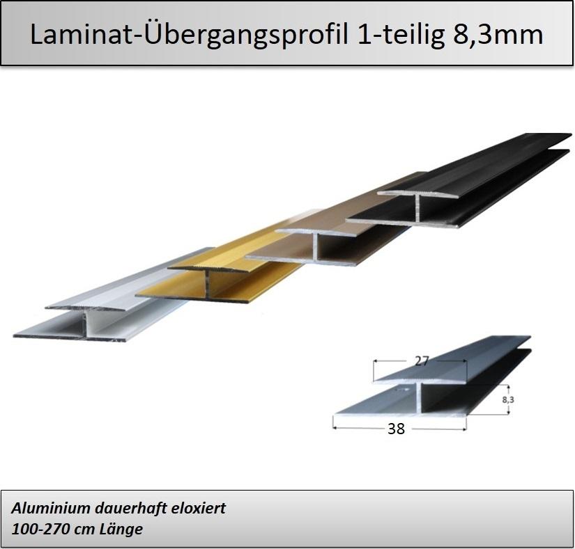 8mm einschubprofil bergangsprofile metallprofile. Black Bedroom Furniture Sets. Home Design Ideas