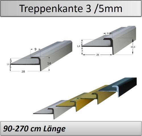 Treppenkantenprofil Fliesen: 3-15mm Treppenkantenprofil Z.B. Vinyl/ Laminat/ Parkett/ Kork