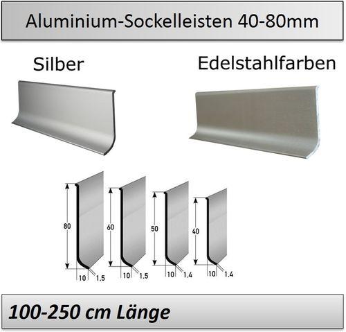 sockelleisten aus aluminium u edelstahl. Black Bedroom Furniture Sets. Home Design Ideas