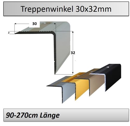 30x32mm Treppenkantenprofile 90-270cm