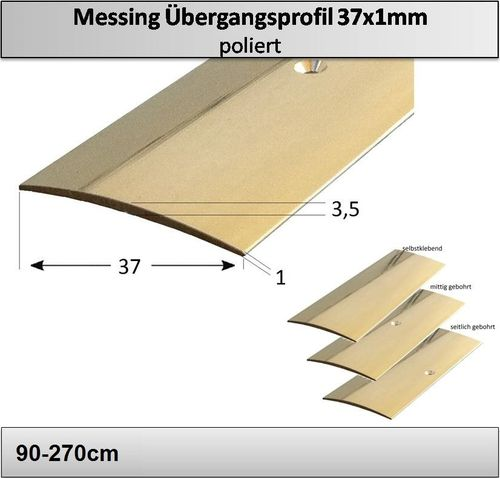 37mm Messing-Übergangsprofil