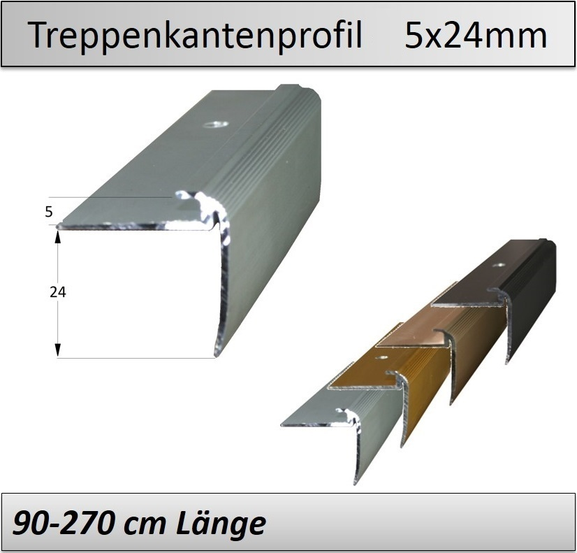 Treppenkantenprofil Fliesen: 5x24mm Treppenkantenprofil Vinyl -TOP Qualität U. Preise