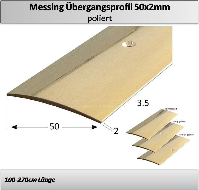 50mm messing bergangsprofil gebohrt selbstklebend top qualit t. Black Bedroom Furniture Sets. Home Design Ideas