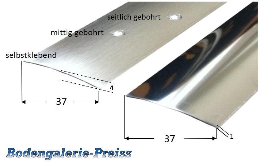 Berühmt 37mm Edelstahl-Übergangsprofil (V2A) poliert /matt geschliffen VB33